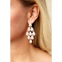 Glow Getter Pink Statement Earrings