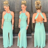 Stop For Nothing Tie Back Dress