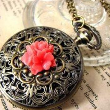 Orient Express Steampunk Pocket Watch Necklace by PoeticDesigns