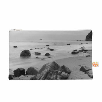 "Nick Nareshni ""Water Moving Around Rocks"" Gray Black White Everything Bag"