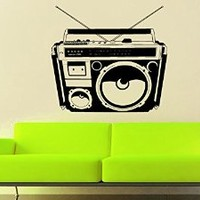 Wall Decal Vinyl Sticker Decals Art Decor Design Bedroom Music Box Recorder Old Vintage Kids Bedroom Dorm Home (r1415)