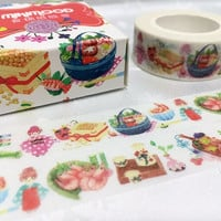 Japan theme washi tape 10M Kimono kokeshi dolls Japanese food cute pattern washi tape Japanese icon deco sticker tape gift wrapping decor