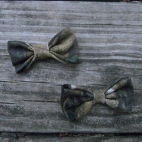 Set of 2,  Realtree Hair Bows,  CAMO bow, CAMOUFLAGE bow, RealTree bow, Real Tree bow, Mossy Oak Bow,  Camo Hair Bow, Realtree Bow, Camo