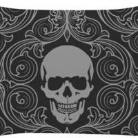 Skull and Filagree Pillow Case