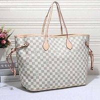 LV Women Shopping Leather Tote Handbag Shoulder Bag H 8-7