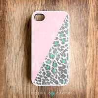 Geometric iPhone 4 Case, Apple White Leopard iPhone 4S Case, iPhone Case, Geometric Case, Leopard Print iPhone 5 Cases Coming Soon
