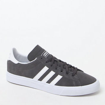 adidas Campus Vulc II Grey & White Shoes at PacSun.com