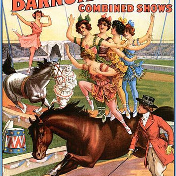 World Famous Equestrians Horse Circus Poster