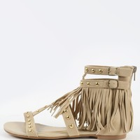 Shoe Republic LA Dylan Studded Fringe Sandals