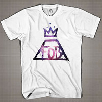 FOB LOGO GALAXY  Mens and Women T-Shirt Available Color Black And White