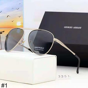 Giorgio Armani 2018 new driving driver color film men's polarized sunglasses #1