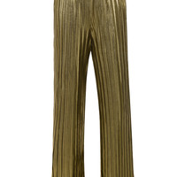 'Shimmy' Gold Metallic Pleated Trousers - Mistress Rocks