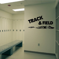 Track And Field Wall Decal Hurdling Quotes Sayings Running Track Wall Sticker