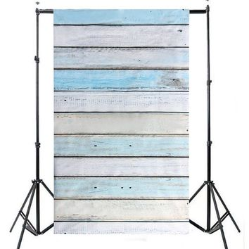 3 X 5FT Striped Wood Photography Backdrops Wooden Wall Floor Photo Background Studio Props Photobooth Props  0.9M X 1.5M