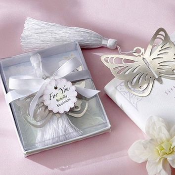 Freeshipping butterfly bookmark for wedding decoration wedding baptism favors and gift for wedding party baby show