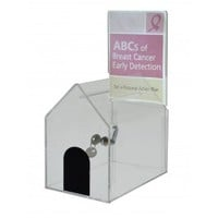 Small Acrylic House Coin/Suggestion Box