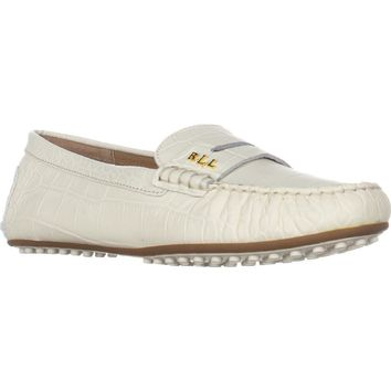 Lauren Ralph Lauren Belen Slip-On Loafers, Eggshell, 5.5 US / 36 EU