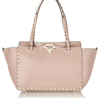 Valentino - The Rockstud small leather trapeze bag