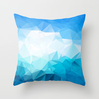 Sky and sea Throw Pillow by Eleaxart