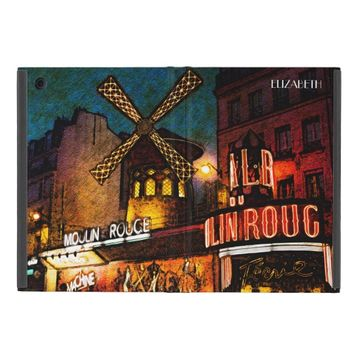 Retro Paris Famous Cabaret With Glowing Lights iPad Mini Case