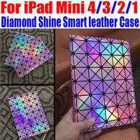 For iPad Mini 4/3/2/1 Luxury Fashion Diamond Shine Smart leather Case Stand Case For iPad Mini 4 NO: IM305