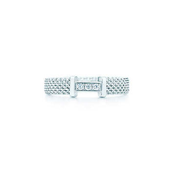 Tiffany & Co. - Tiffany Somerset™ ring in sterling silver with diamonds, narrow.