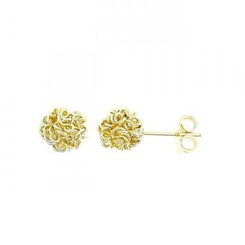 Gold Layered 5.127.044 Stud Earring, Love Knot Design, Golden Tone