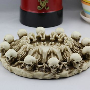 Resin Skulls Ashtray Halloween Decoration Home Decor