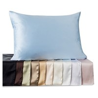 "Fishers Finery 25mm 100% Pure Mulberry Silk Pillowcase Good Housekeeping ""Winner"" (White, K)"
