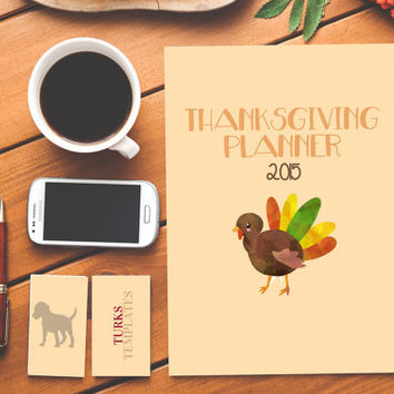 Thanksgiving Planner Life Planner Instant Download Holiday Planner Fall Planner Thanksgiving Checklist Planner Kit Meal Planner Guest List