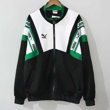 PUMA Fashionable Popular Women Men Zipper Cardigan Jacket Coat Windbreaker