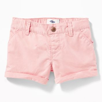 Twill Pull-On Shorts for Toddler Girls|old-navy