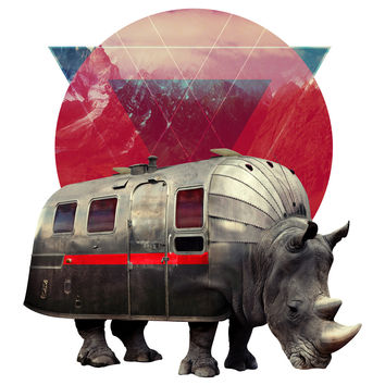 Ali Gulec's Airstream Rhino Wall Decal