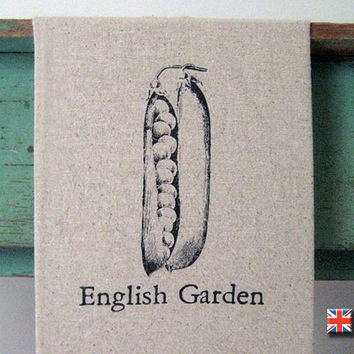 English Garden Tea Towel by Bravura on Etsy