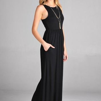 Simply Sweet Black Maxi Dress