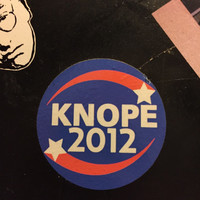 Knope 2012 Campaign Sticker from Parks and Recreation
