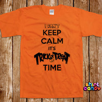 Keep Calm Trick Or Treat Halloween Costume T shirt Party Funny Bar Dress Up Tee Nerd Geek Womens Scary Girl Trick Or Treat Spooky Witch Gift