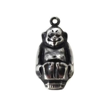 Original Billiken Silver Charm Billiken Trademark Antique