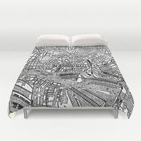 Vintage Map of Hamburg Germany (1911) Duvet Cover by BravuraMedia | Society6