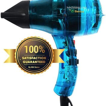 VONW3Q Professional Ionic Hair Dryer Handcrafted in France for Europe¡¯s Finest Salons, Featherweight, Dual Ion Generator Function Builds Shine & Volume 1600 Watts
