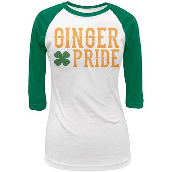 St Patricks Day Ginger Pride Juniors 3/4 Raglan T Shirt