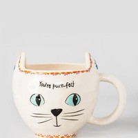 You're Purr-fect White Cat Mug
