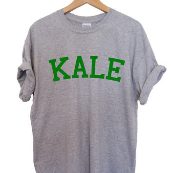 KALE T-shirt High Quality SCREEN PRINT for Retail Quality Print Soft unisex Ladies Sizes. Worldwide Shipping S-2xl