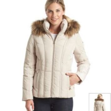 Product: Calvin Klein Faux Fur Trimmed Down Jacket