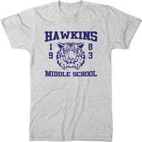 Stranger Things 1983 Hawkins Middle School Men's Tri-Blend T-Shirt