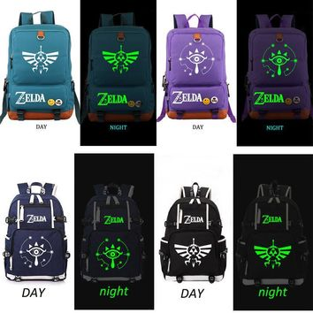 The Legend of Zelda Breath of the Wild Backpack Black school bag Daily backpack  Anime Cosplay Backpack