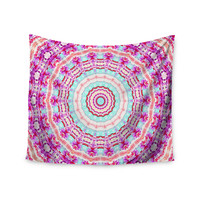 "Iris Lehnhardt ""Happy"" Circle Pink Wall Tapestry"