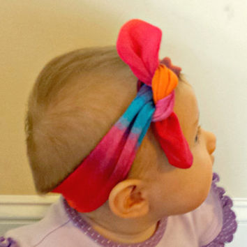 Knot headband made to order, choose knit fabric, baby, child headwrap, stretchy headband, top knot, girl hair accessory
