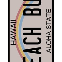 Personalized  Hawaii License Plate Design Case for iPhone 5C. Protective Cover