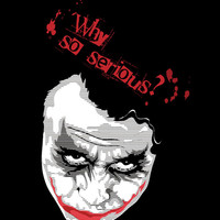 The Joker (heath ledger) batman Why So Serious screen printed tee (black. Fitted sizes available)